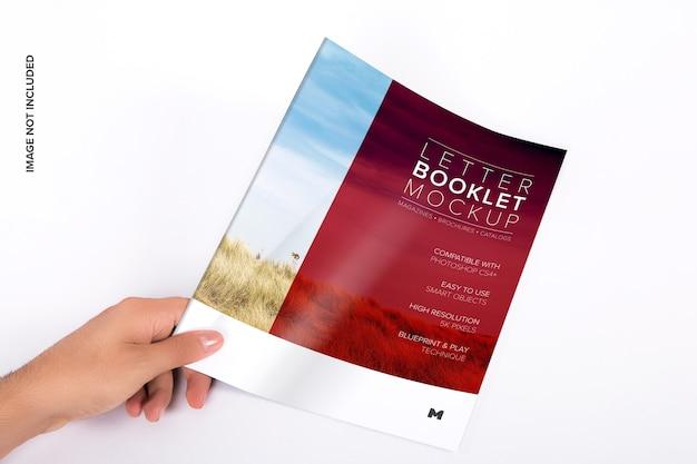 Maquette de couverture de livret de lettres