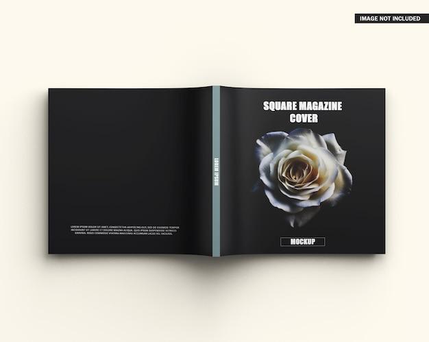 Maquette de couverture de magazine carrée