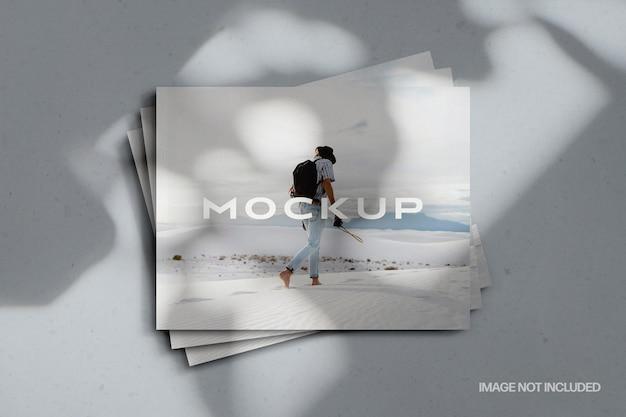 Maquette de couverture de magazine de paysage empilé