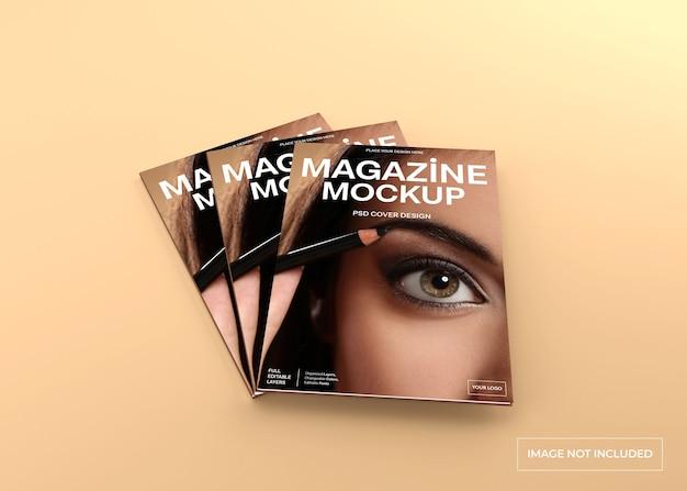 Maquette de couverture de magazine réaliste isolée