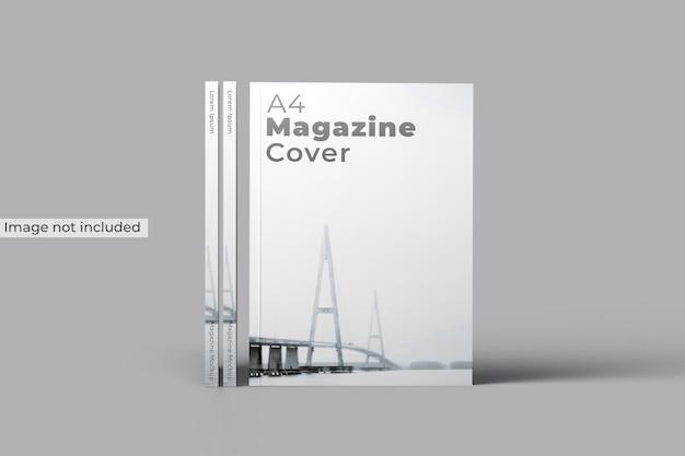 Maquette de couverture de magazine vue de face