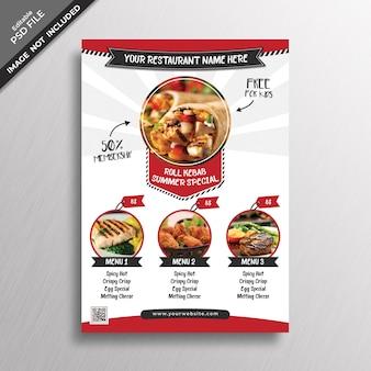Maquette de couverture de menu créatif
