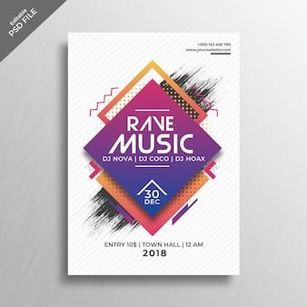 Maquette de couverture de musique rave