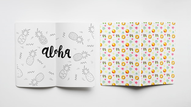 Maquette de couverture et de papier