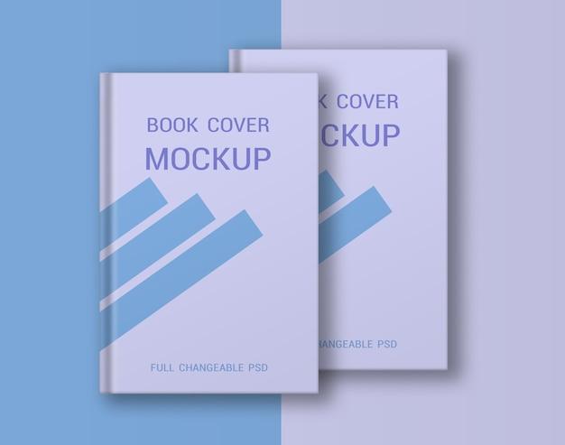 Maquette de couverture rigide de livre isolée