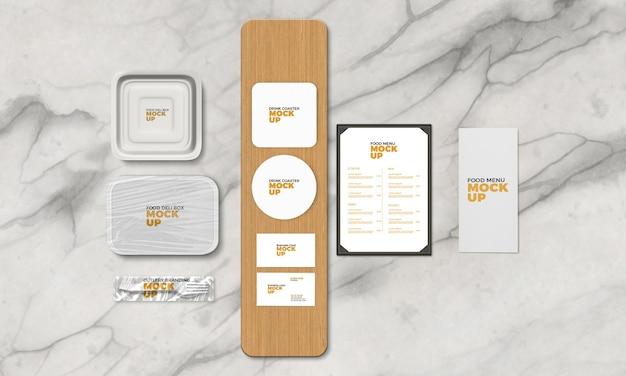 Maquette de créateur de scène de marque de restaurant