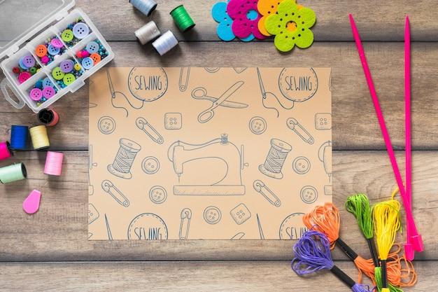 Maquette créative de bricolage