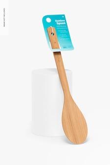 Maquette de cuillère en bambou, penchée
