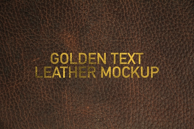 Maquette en cuir texto doré
