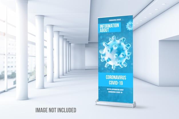 Maquette de cumul du coronavirus à l'intérieur d'un bâtiment
