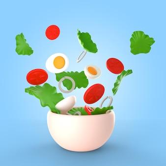 Maquette de délicieux bol à salade