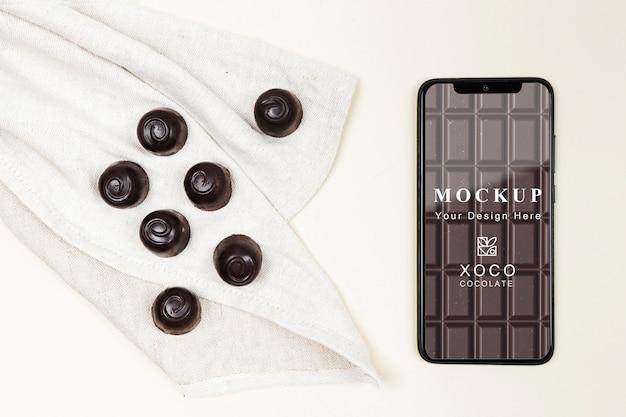 Maquette de délicieux chocolat