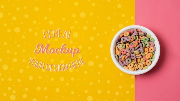 Maquette de délicieux concept de céréales