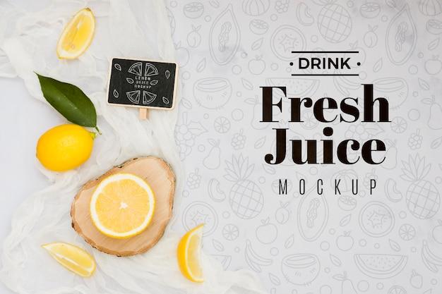 Maquette de délicieux fruits