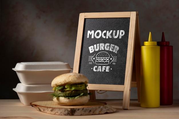 Maquette de délicieux hamburger