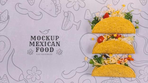 Maquette de délicieux plats mexicains