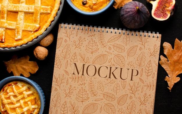 Maquette de délicieux plats de thanksgiving