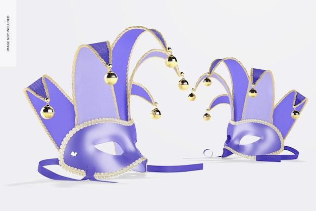Maquette de demi-masques de bouffon, vue de gauche