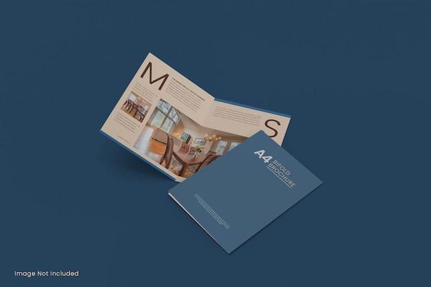 Maquette de dépliant de brochure a4 pli en deux