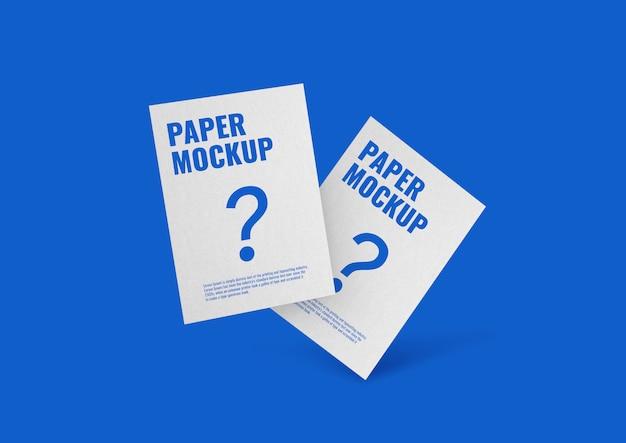 Maquette de dépliant papier