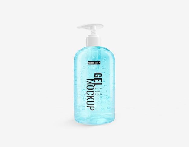Maquette de désinfectant pour les mains en gel d'alcool de grande bouteille