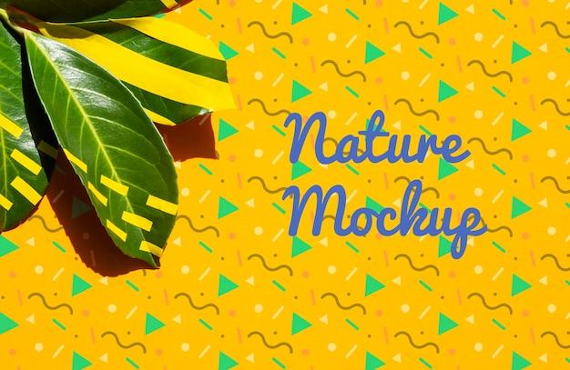 Maquette de dessin artistique nature plante