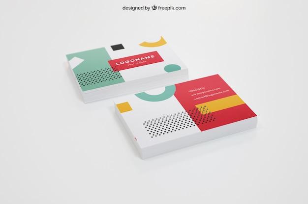 Maquette de deux piles de cartes de visite