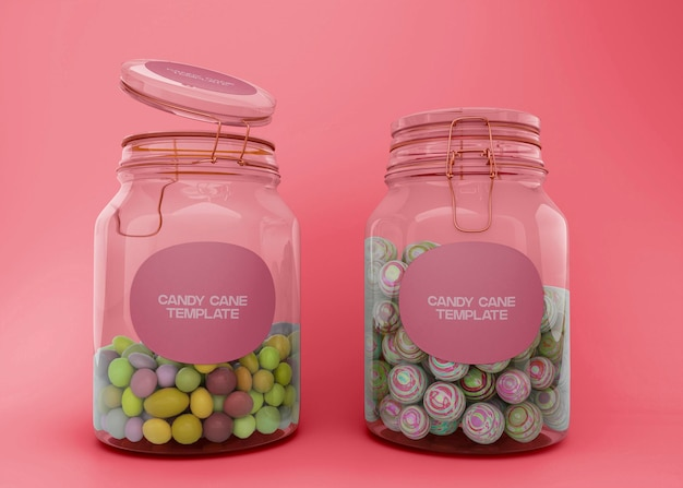 Maquette de deux pots de bonbons