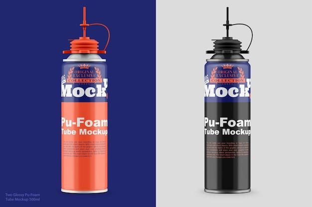 Maquette de deux tubes pufoam