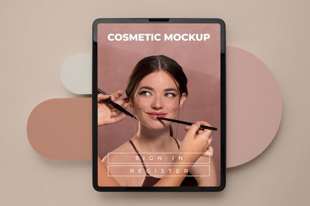 Maquette de dispositif cosmétique en studio