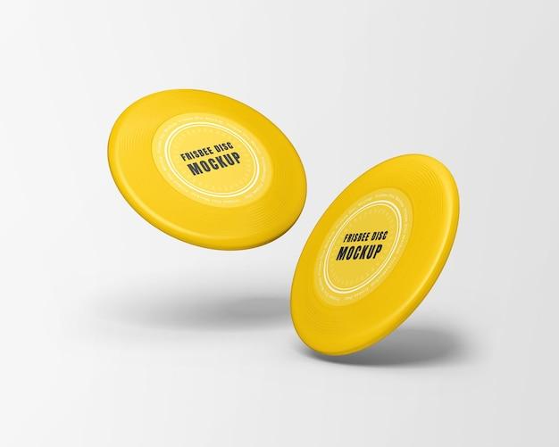 Maquette de disque frisbee isolée