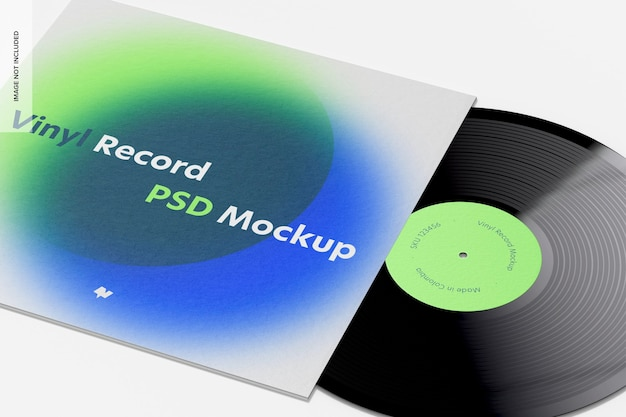 Maquette de disque vinyle, gros plan