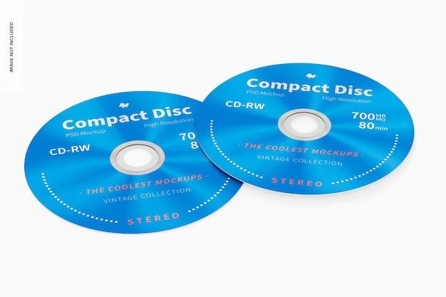 Maquette de disques compacts, vue de face