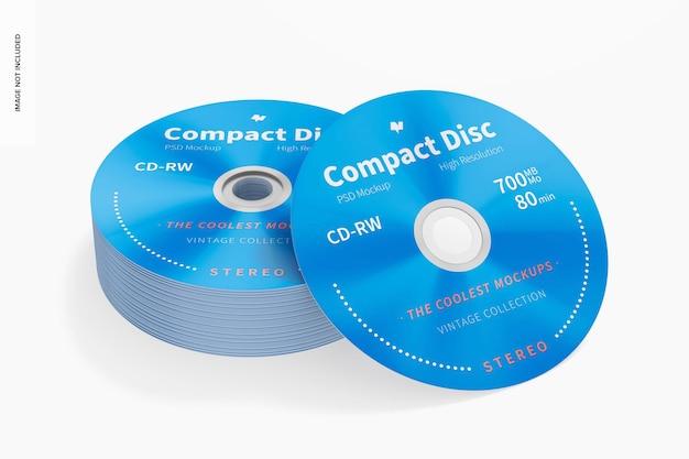 Maquette de disques compacts