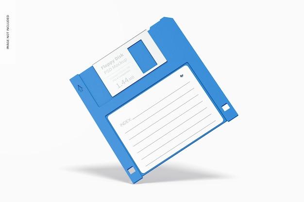 Maquette de disquette, penchée
