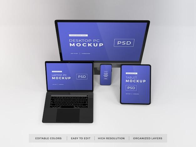 Maquette de divers appareils numériques