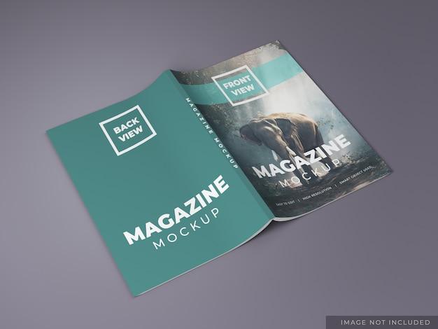 Maquette de dos de magazine