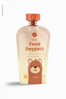 Maquette de doypack d'aliments pour bébés