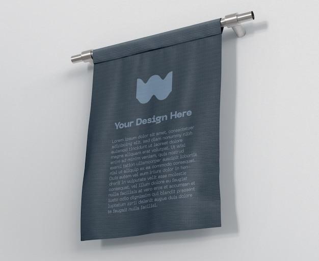 Maquette de drapeau de bannière