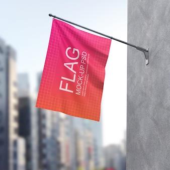 Maquette de drapeau ondulant