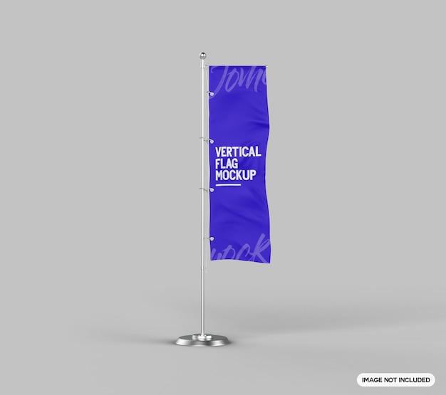 Maquette de drapeau vertical