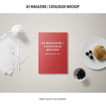 Maquette du catalogue de couvertures de magazine a5