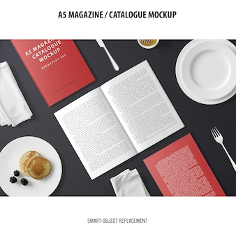 Maquette du catalogue du magazine a5