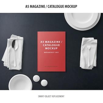 Maquette du catalogue du magazine a5