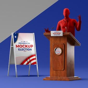 Maquette du concept des élections américaines