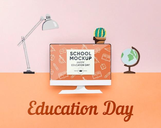 Maquette du concept de la journée de l'éducation