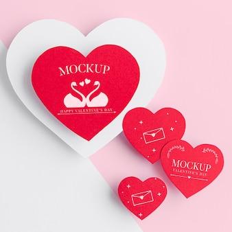 Maquette du concept de la saint-valentin