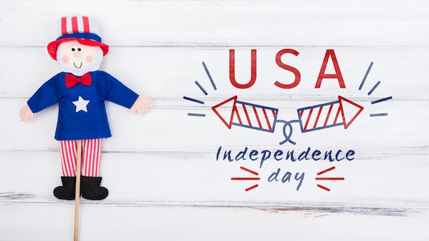 Maquette du jour de l'indépendance plat laïques avec fond