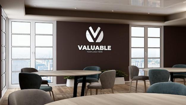 Maquette du logo de l'entreprise dans le garde-manger du bureau