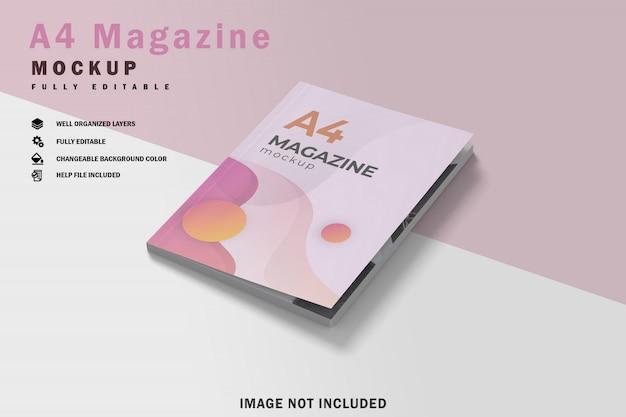 Maquette du magazine a4 fermée
